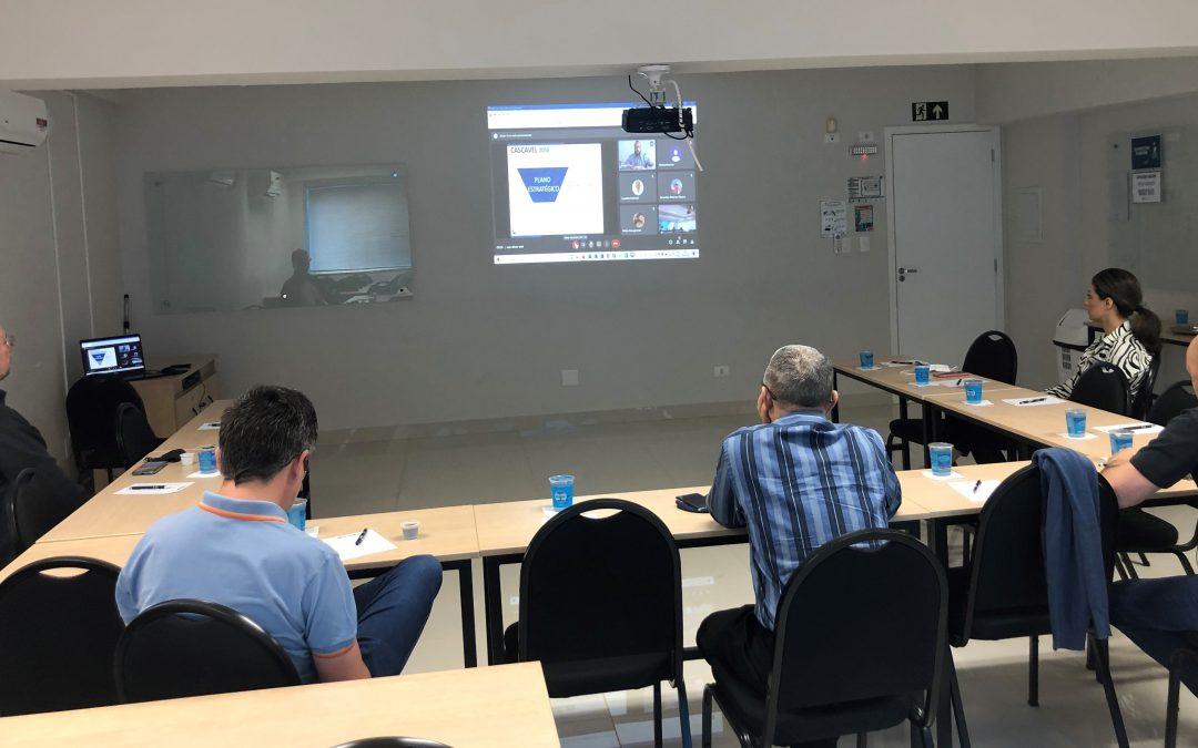 Videoconferência sobre diagnóstico da início aos próximos passos do planejamento da Cascavel de 2050