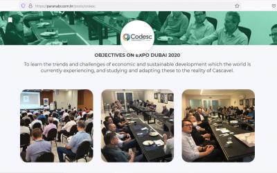 Codesc vai participar da ExpoDubai, a maior feira do mundo